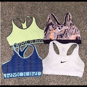 Athletic sport bras